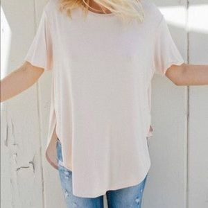 Joah Brown Live In Slouchy Tee in Blush